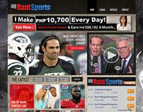 Rant Sports Web Mock-up