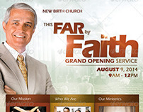 By Faith Church Grand Opening Flyer Template