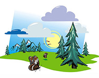 Vector illustrations for childrens book