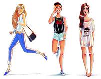 FASHION GIRLS SKETCHES