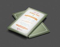 Retro Business Card Design Vol 1