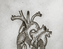 Graphic Heart Tattoo