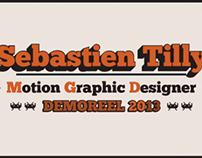 Demoreel 2013 Sebastien Tilly