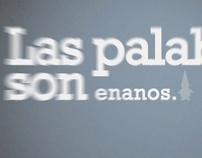 "Type In Motion ""Las palabras…"""