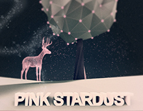 low poly - pink stardust