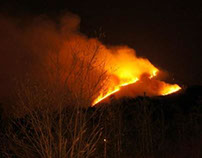 My Unedited Photography - Fire On The Baby Sugarloaf