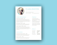 Free Personal Resume Template with Simple Design