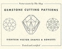 Gemstone cutting pattern vector elements