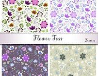 Flower Toss Pattern Design