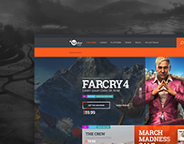 Ubisoft / Uplay Shop Concept Design