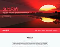 Sunfall web template