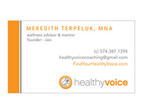Business Card Concepts: Healthy Voice