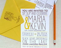 Custom Letterpress Wedding Suite
