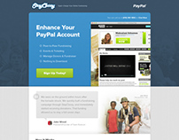 StayClassy Landing page for PayPal