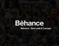 Behance website redesign