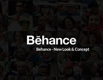 Behance website redesign