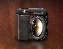 Realistic Camera App Icon Concept for iOS