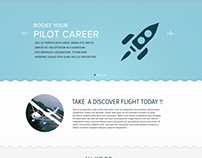 Aviation Website layout