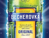 Принт, промо-сайт / Becherovka