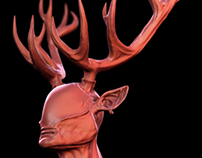 Hern the forest guardian - 3d sculpt