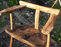 Apricot and Walnut bar stool