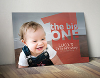 First Birthday Invitation Postcard