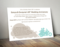 Anniversary Invitation Postcard