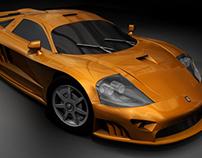 3D Gold Sports Car