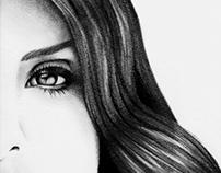 Lana Del Rey Minimalistic Portrait