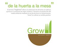 Grow - organic restaurant / Branding / Identity