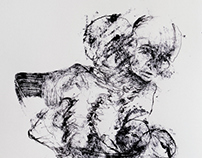 Ink drawings on paper