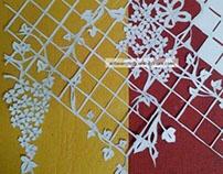 coral vine papercut