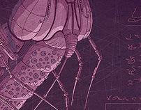 Violet moth