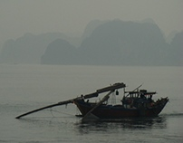 Fog in Halong Bay
