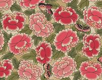 Korean Folk Art Collection : Pheony Garden (HS)