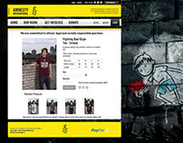 Amnesty International Web Shop redesign.