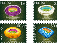 Postage stamps Euro 2012