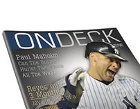 OnDeck Magazine. A fictional Baseball Magazine