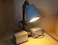 Concrete and Iron Lamp