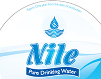 NILE WATER - PACKAGING & MAGAZINE AD