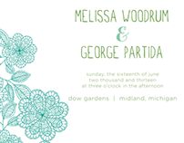 Melissa & George Wedding Invitations