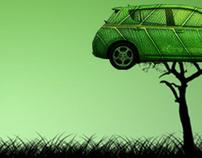 Nissan LEAF Postcard Ad