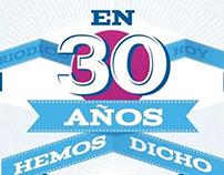 Periódico Hoy's 30 year anniversary