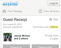 Airbnb email receipt - redesign for mobile