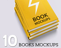 Book Mockups / 10 Different Images