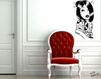 Wall Stickers by JuaNitoox in Arty Walrus !