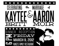 Kaytee & Aaron Wedding Invitation, Erie, PA