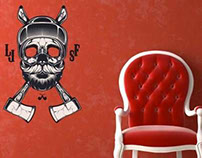Wall Stickers by Shulyak Brothers in Arty Walrus