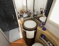 Autocaravan toilet concept