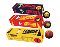 new LEAGUE CHEWING GUM packaging